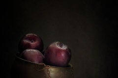Still Life With Plums In The Bowl